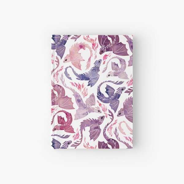 Drachenfeuer rosa & lila Notizbuch