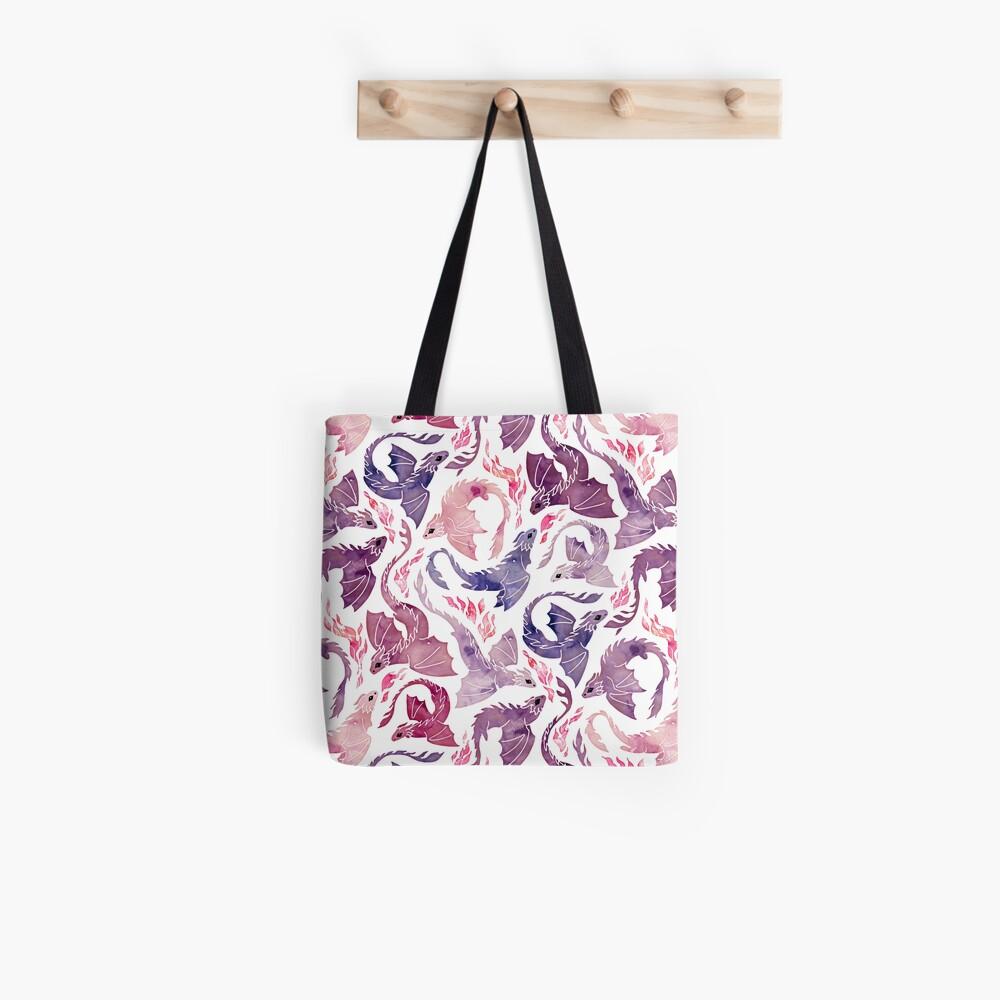 Dragon fire pink & purple Tote Bag
