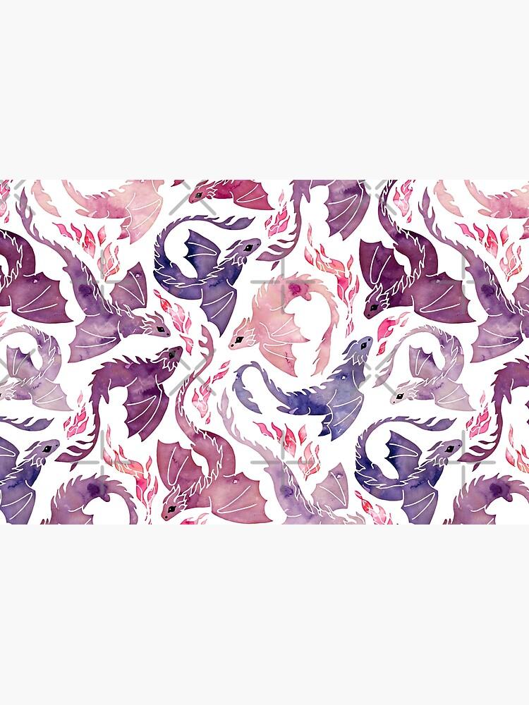 Dragon fire pink & purple by adenaJ