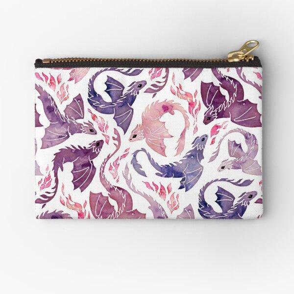 Dragon feu rose & violet Pochette