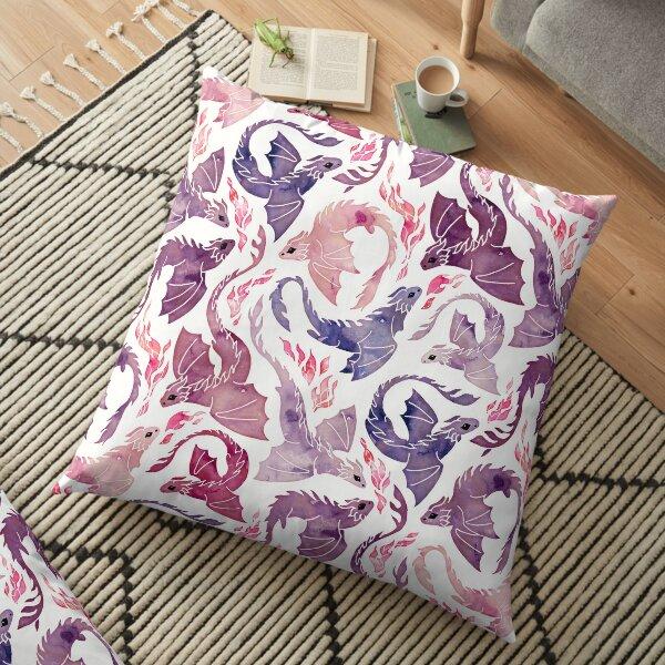 Dragon fire pink & purple Floor Pillow
