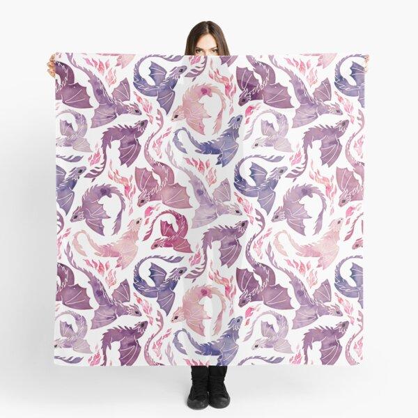 Dragon fire pink & purple Scarf