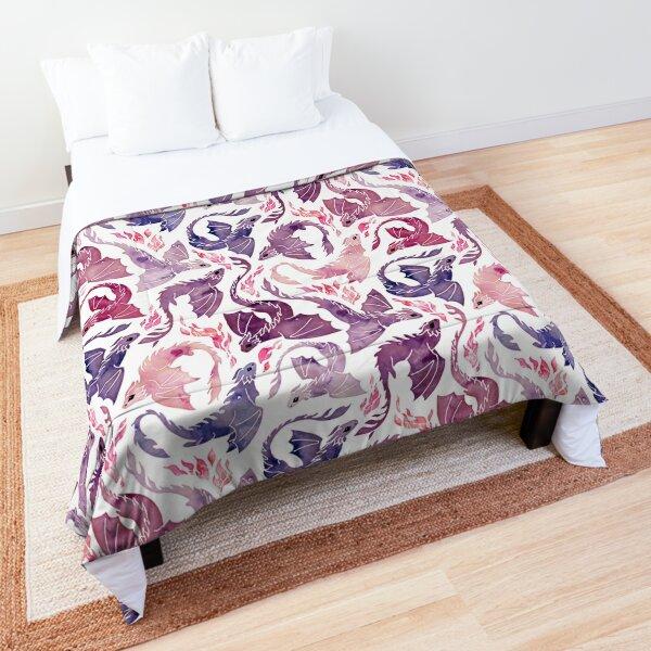 Dragon fire pink & purple Comforter
