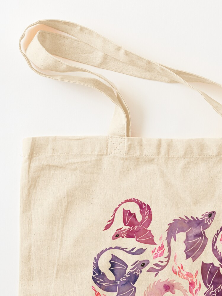 Alternate view of Dragon fire pink & purple Tote Bag