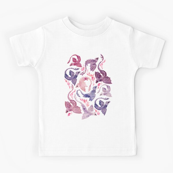 Dragon fire pink & purple Kids T-Shirt