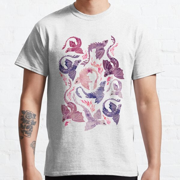 Dragon fire pink & purple Classic T-Shirt