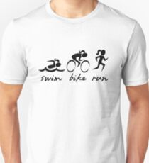 Swim Bike Run Girl Unisex T-Shirt