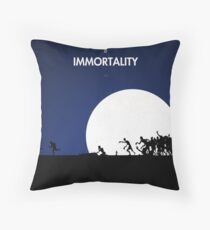 99 steps of progress - Immortality Throw Pillow