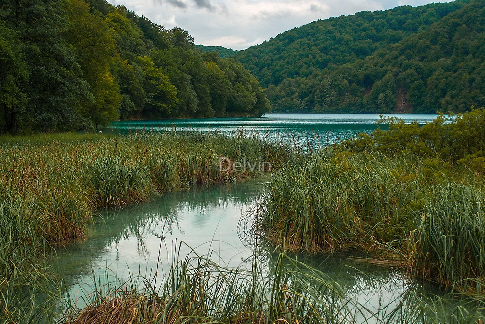 Lake in the hills by Delvin
