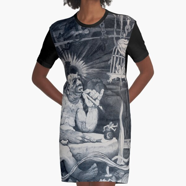 """""""From Screwtape to Wormwood"""" Oliver Grimley Fine Art Graphic T-Shirt Dress"""