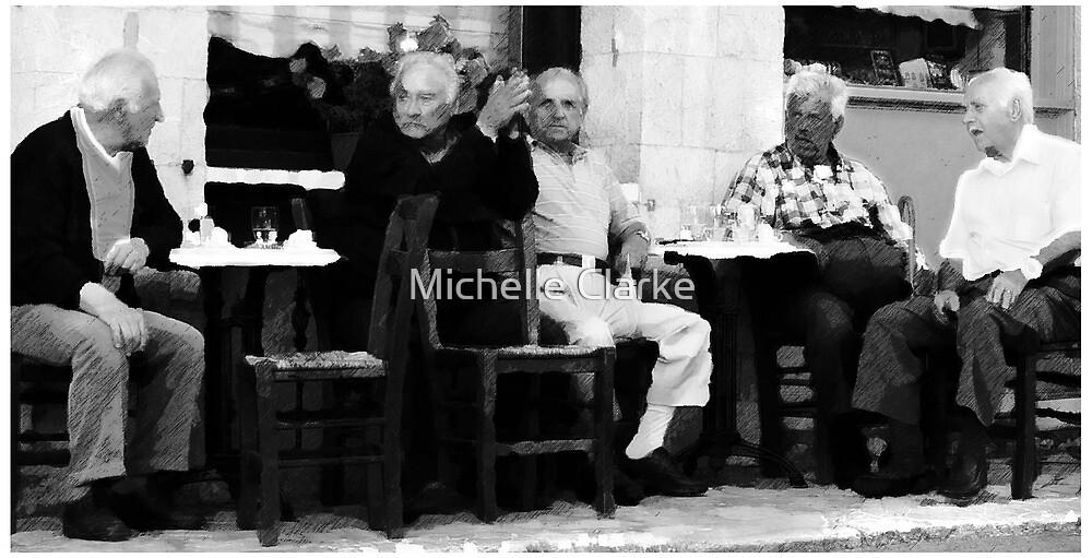 Old men Meet by Michelle Clarke