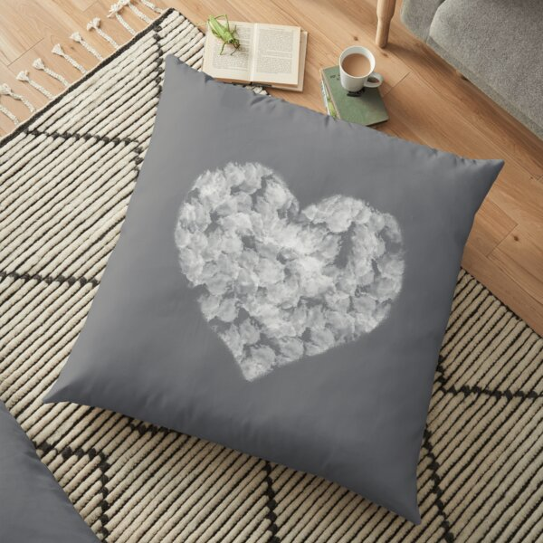 Heart in the Clouds Floor Pillow
