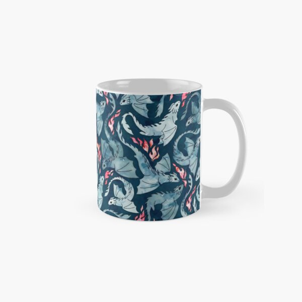 Dragon fire dark blue Classic Mug