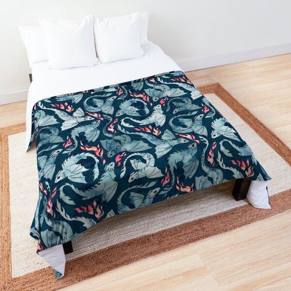Dragon fire dark blue Comforter
