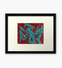Anger with a Touch of Mellow Framed Print