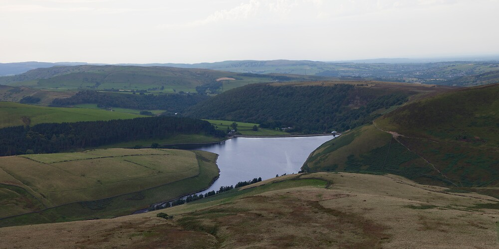 Kinder Reservoir Panorama by Nick Atkin
