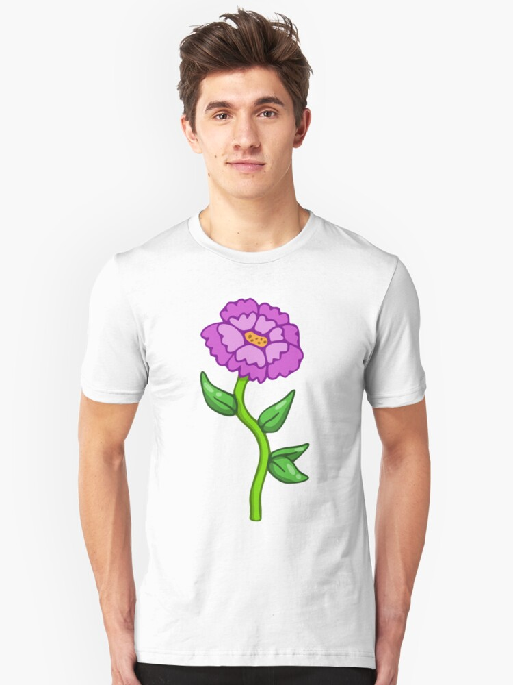 Single Purple Flower  Unisex T-Shirt Front