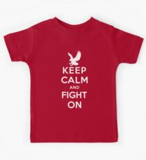 Keep Calm And Fight On 9/11 Tribute Memorial American Patriotic T Shirt Kids Clothes