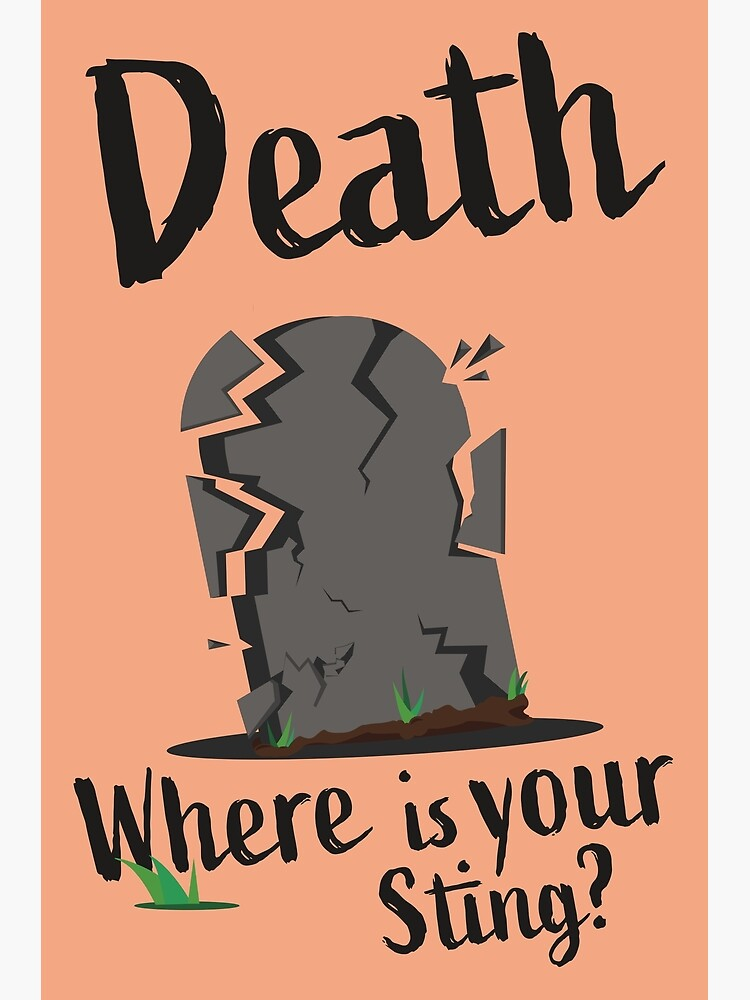 Death Where Is Your Sting Poster by TheArmoury