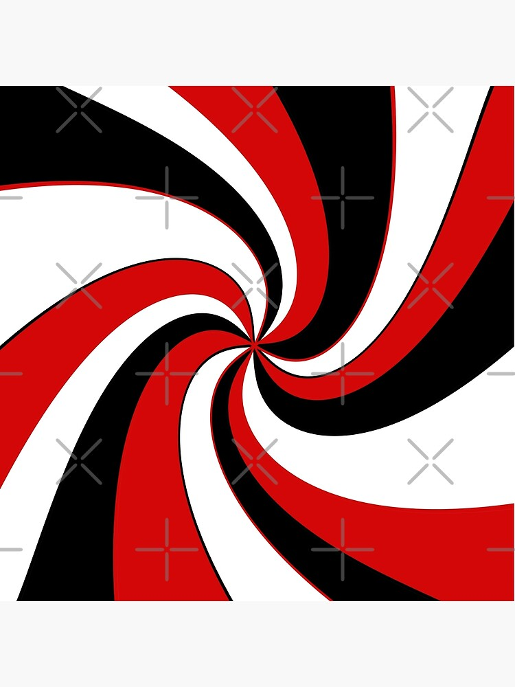 Red, black and white twist design  by ValentinaHramov