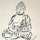 Black and White Buddha by Allegretto
