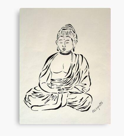 Black and White Buddha Canvas Print