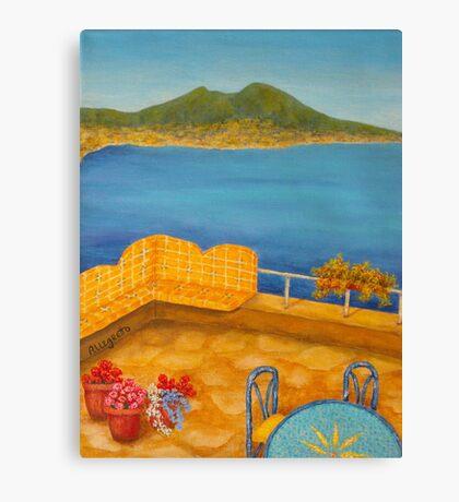 Veduta di Vesuvio Canvas Print