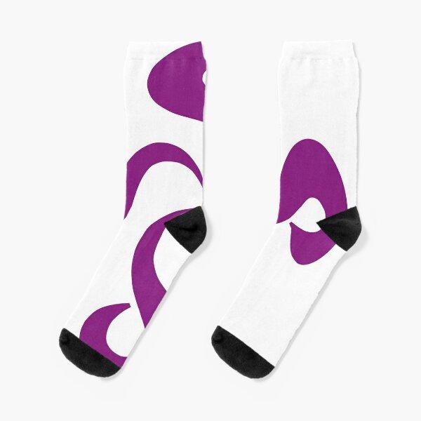 SheeArtworks Spiral Purple - Shee Vector Shape Socks