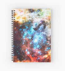 Colorful Star Cluster Spiral Notebook