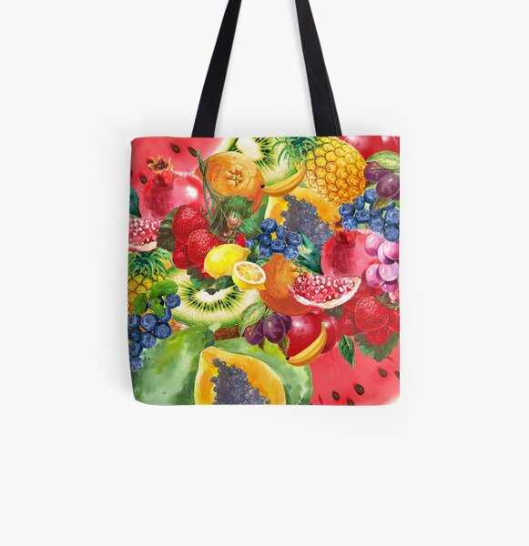 Summer Fruit All Over Print Tote Bag