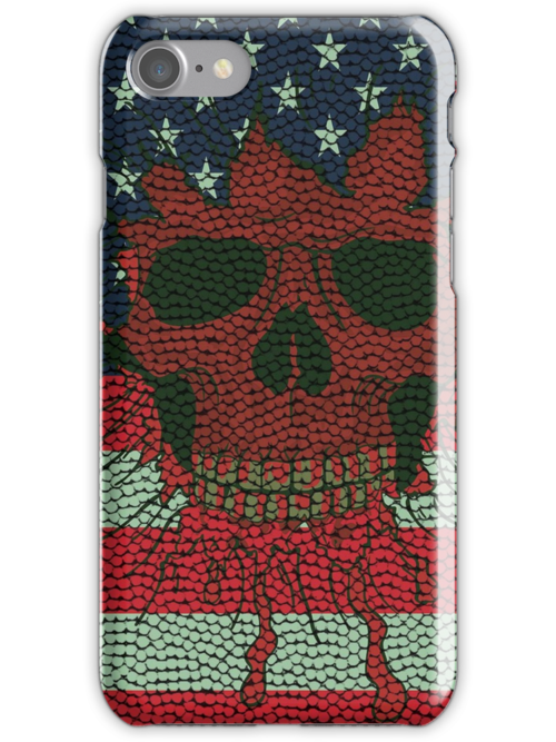 American Patriotic Skull Basketball Ball Skin Style iPod / iPhone 4 / iPhone 5  Case / Samsung Galaxy Cases  by CroDesign