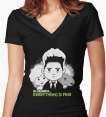 "Saturday Morning ""Eraserhead"" Women's Fitted V-Neck T-Shirt"