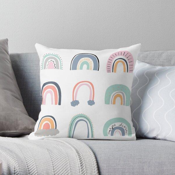 Organic Rainbows Throw Pillow