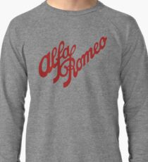 Alfa Romeo Script in RED Lightweight Sweatshirt