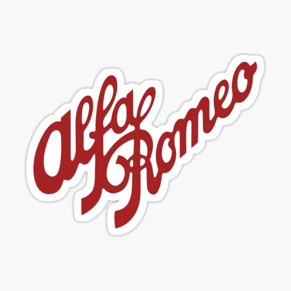 Alfa Romeo Script en RED Pegatina