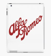 Alfa Romeo Script in RED iPad Case/Skin