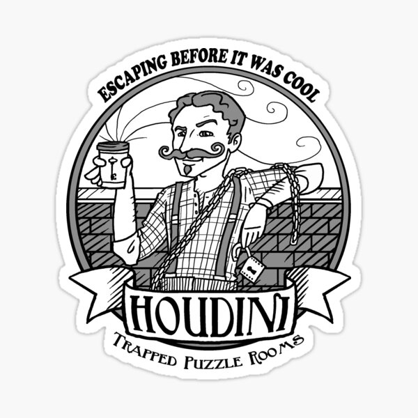 Houdini Hipster Sticker