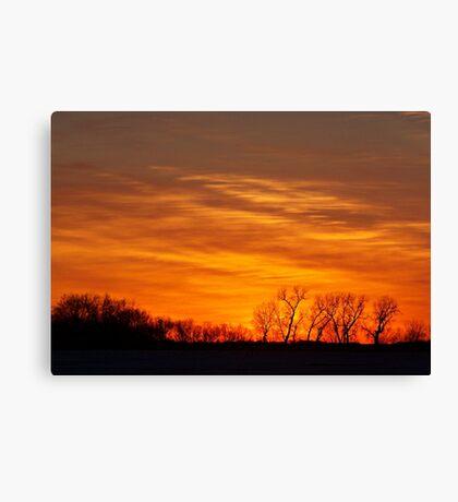 Prairie Flames Canvas Print