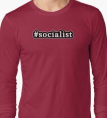 Socialist - Hashtag - Black & White Long Sleeve T-Shirt
