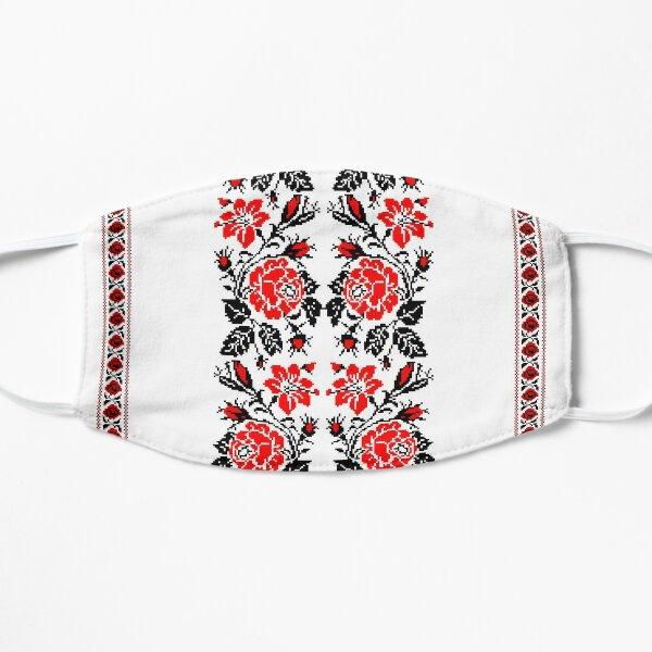 European Ukrainian Ladies Embroidery Floral Design Red Black Flowers Ukrainian Souvenir For Her Mask