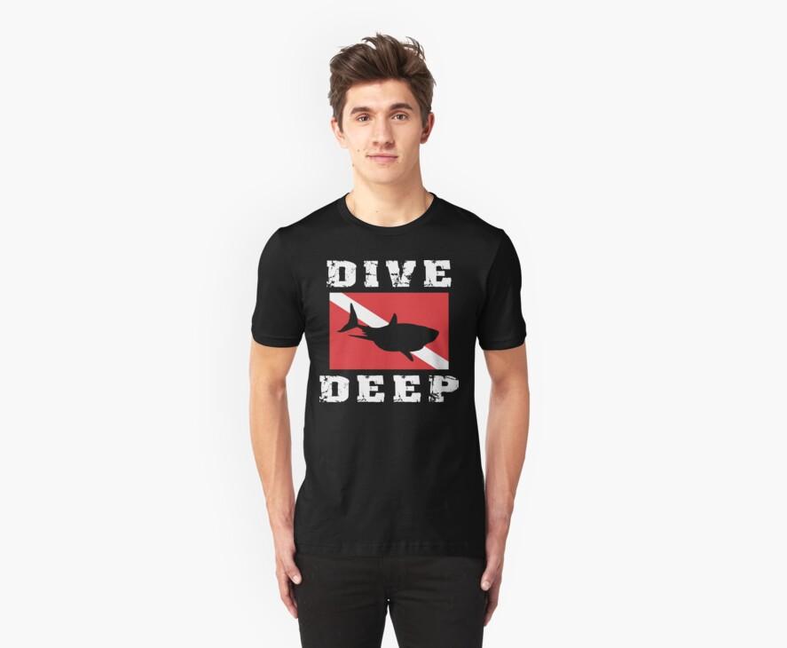 SCUBA Flag Shark by SportsT-Shirts
