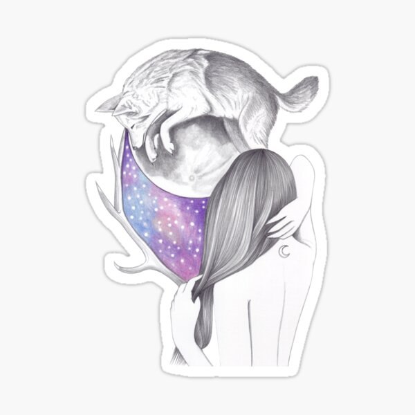 Two Moons Sticker