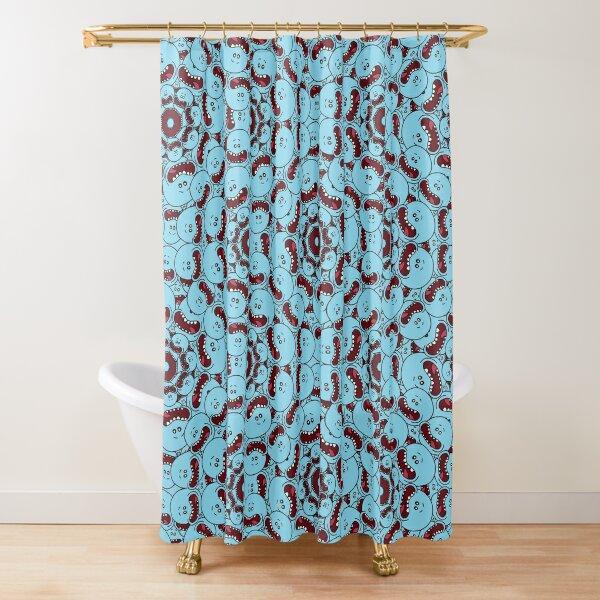 Mr. Meeseeks Pattern Shower Curtain