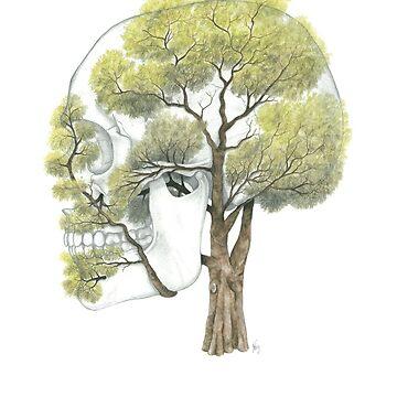 Spring Jacaranda Skull by jf901