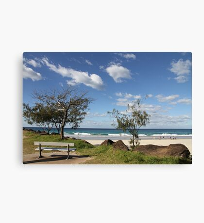 Bench Seat With A View Canvas Print