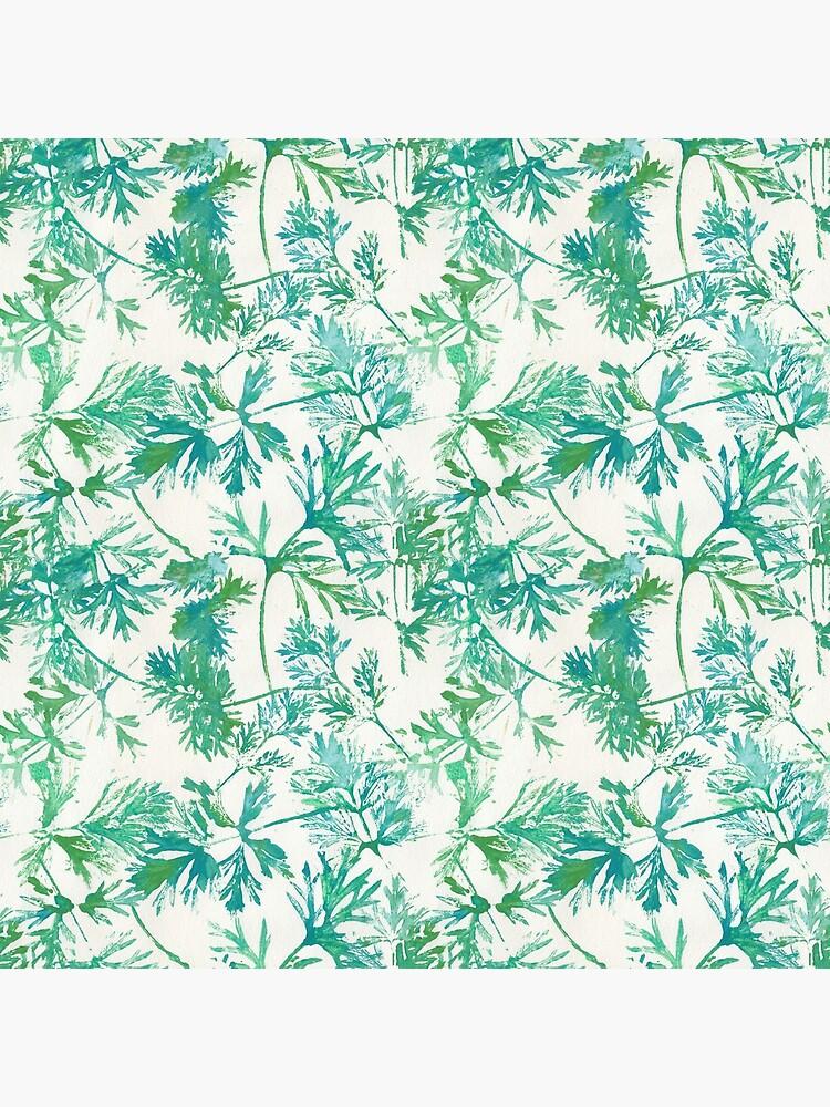 Wilde blaue Blätter von RanitasArt