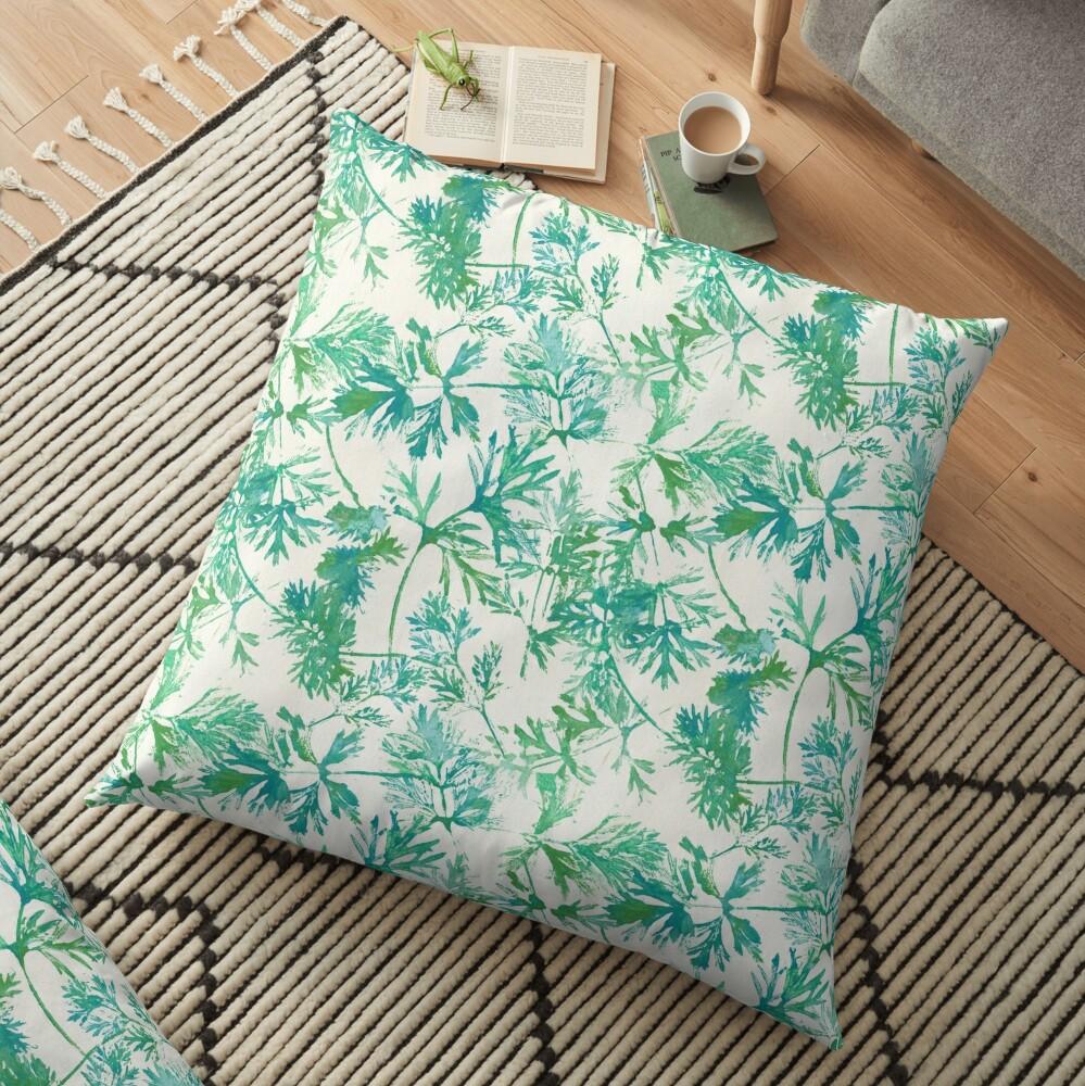 Wilde blaue Blätter Bodenkissen