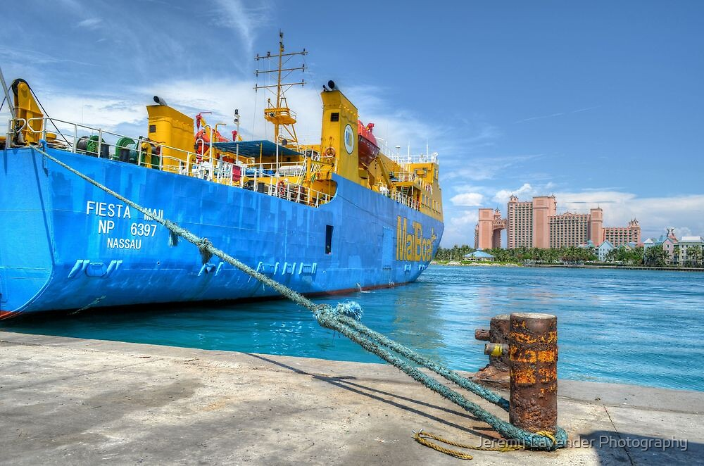 Mailboat Ferry docked at Potter's Cay in Nassau, The Bahamas by Jeremy Lavender Photography