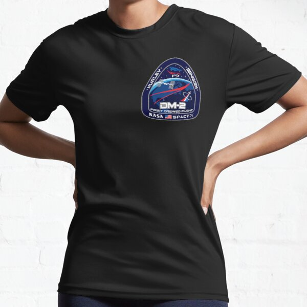 NASA SpaceX DM-2 Mission Patch Active T-Shirt