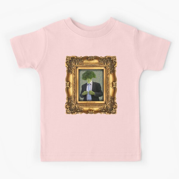 Broccoli Man in Vintage Frame Kids T-Shirt